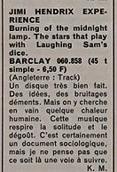 jimi hendrix collector magazine/review burning of the midnight lamp