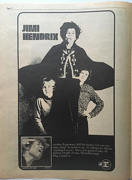 jimi hendrix newspaper 1968/go november 1968  electric ladyland AD