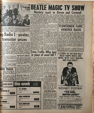 jimi hendrix collector newspapers/new musical express 9/9/1967/hendrix radio