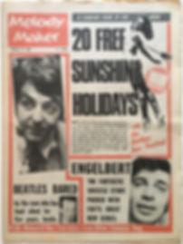 jimi hendrix newspaper/melody maker 10/2/68