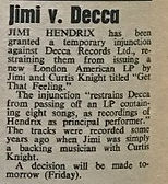 jimi hendrix v.decca 1967 newspaper collector