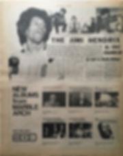 jimi hendrix newspaper 1968 /new musical express 16/11/68 jimi hendrix story