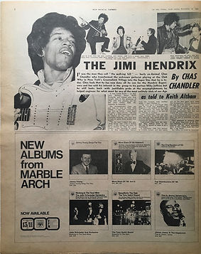 jimi hendrix newspaper 1968 /new musical express 16/11/68 jimi hendrix story