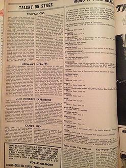 magazine collector jimi hendrix/cash box 19/8/67