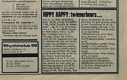 jimi henrix newspaper/ad hippy happy/hit week 27/10/1967