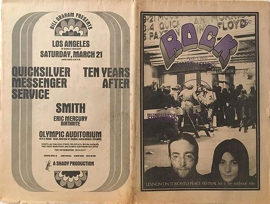 jimi hendrix newspaper 1970 /rock april 1,1970