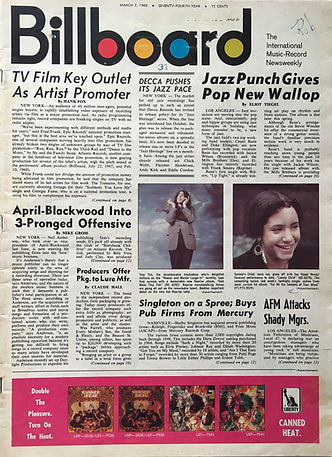 jimi hendrix magazine/billboard march 2 1968