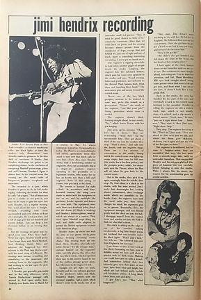 jimi hendrix newspapers 1970 / zygote june or july  1970