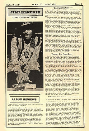 jimi hendrix newspapers 1970 / door :  September 24, 1970