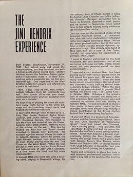 jimi hendrix rotily memorabilia collector/ program tour 4/1967