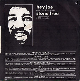hendrix collector singles 45t/hey joe/stone free JH story vol1