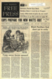 jimi hendrix newspaper 1969/ free press los angeles july 25 1969