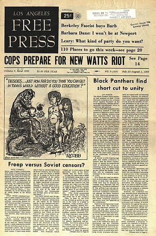 jimi hendrix newspaper 1969/ free press los angeles july 25 1969
