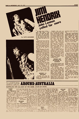 jimi hendrix newspapers 1967/ go set : july 19, 1967