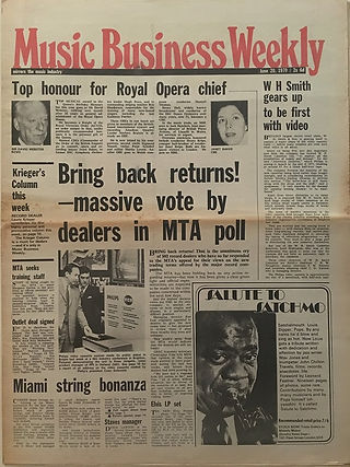 jimi hendrix newspapers 1970 / music business weekly  june 20, 1970