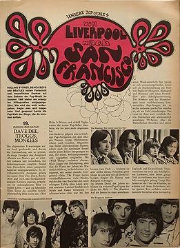 jimi hendrix magazine/pop july 1968/liverpool nach san francisco