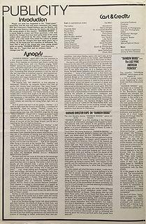 jimi hendrix collector memorabilia / pressbook  film rainbow bridge