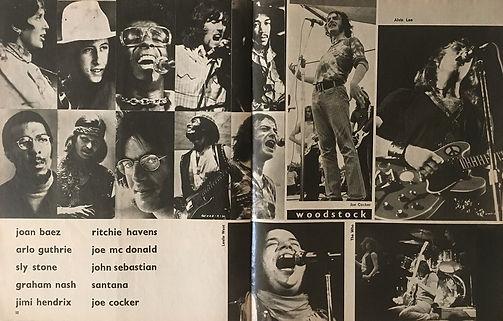 jimi hendrix magazines 1970 / juke box  august  1970 /  woodstock