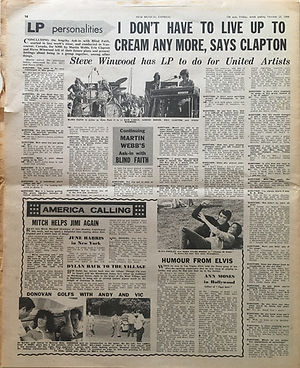 jimi hendrix newspapers 1969/new musical express october 25 1969