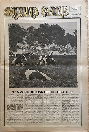 jimi hendrix newspaper 1969/rolling stone september  20 1969 : woodstock