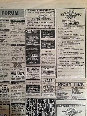 jimi hendrix newspaper/melody maker ad concert