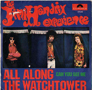 jimi hendrix collector singles/45t all along the watchtower can you see me / austria 1968