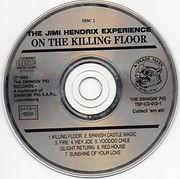 jimi hendrix cd bootleg 1969/on the killing floor disc 2  1989