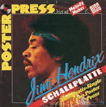 jimi hendrix magazine collector / poster press december 1974
