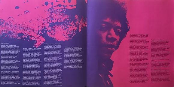 jimi hendrix collector vinyls/ starportrait  1971 spanish
