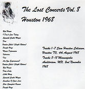 jimi hendrix cd bootlegs/the lost concerts vol 8 houston 1968