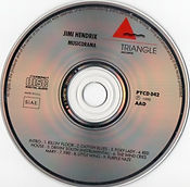 jimi hendrix cd bootlegs/musicorama triangle  1990