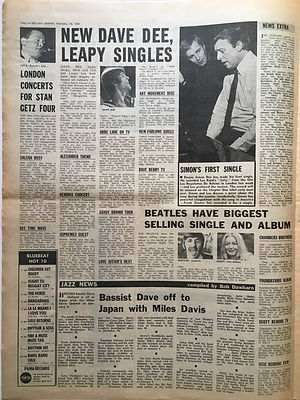 jimi henrix newspaper 1968/melody maker december 28 1968