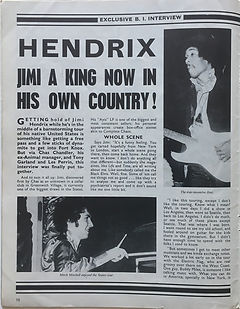jimi hendrix beat instrumental may 1968/ hendrix jimi a king now in his own country!