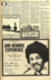 jimi hendrix newspapers 1970 / los angeles free press april 10-16 ,1970