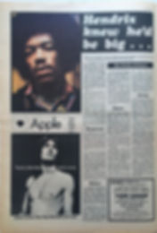 jimi hendrix newspaper 1969/top pops may 3 1969/hendrix knew he'd be big......
