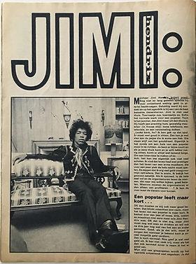 jimi hendrix magazine/muziek parade 1968 n°131 FEBRUARY