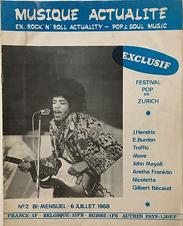 jimi hendrix magazine/musique actualite july 6 1968
