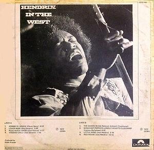 jimi hendrix vinyl album / in the west 1972 colombia