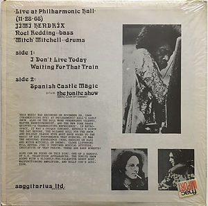 jimi hendrix bootlegs vinyls/1974 rare:live at philharmonic hall 11/28/68