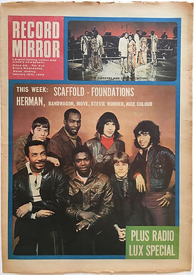 jimi hendrix newspaper 1969/reord mirror january 18 1969
