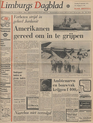 jimi hendrix newspapers 1970 / limburgs dagblad   September 19,  1970