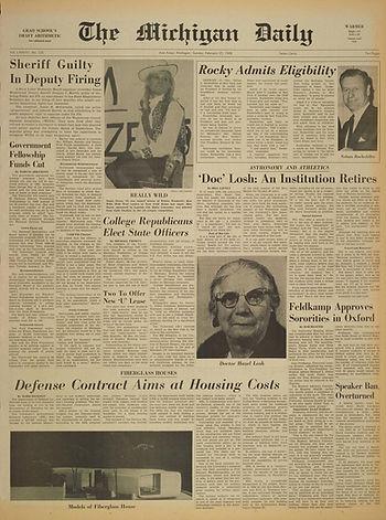 jimi hendrix newspapers 1968/the michigan daily feb.25,1968 :AD concert