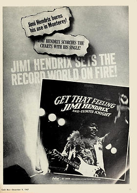 jimi hendrix magazine 1967/cash box december 8 1967