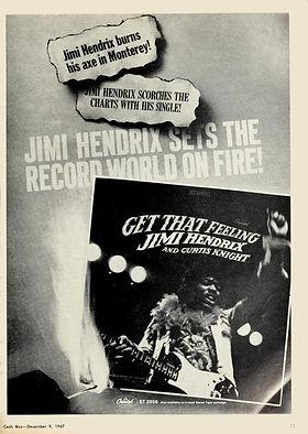 jimi hendrix magazine 1967/cash box december 8 1967