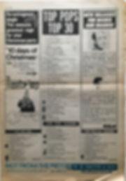 jimi hendrix newspaper 1968/top pops top 30/top ten albums