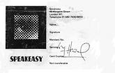 card speakeasy club / jimi hendrix memorabilia 1967