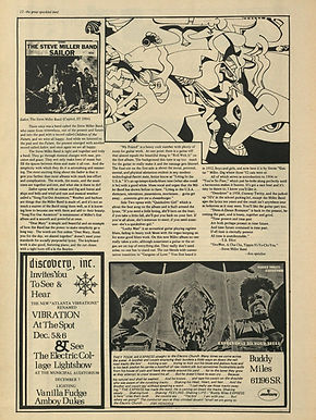 jimi hendrix newspaper 1968/great speckled bird november 25, 1968