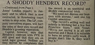 jimi hendrix newspaper 1968/rolling stone january 1968
