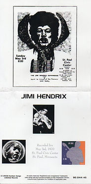 jimi hendrix bootlegs cds 1970 / 2cd live  in st paul 1970