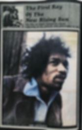 jimi hendrix newspaper 1969/top pops  january 11 1969